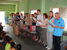 Worship with leprosy patients