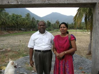 Pastor Jay and Dr Neva at the site of the hospital 2012